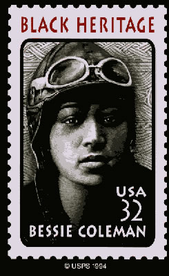 a biography of elizabeth bessie coleman an african american pilot Bessie coleman was the first african-american woman to become a pilot after  flying schools in the us denied her admission, she taught herself french and.