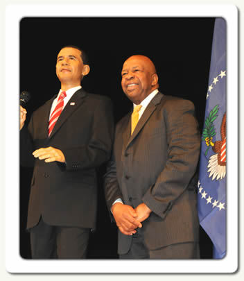 Congressman Elijah E. Cummings and President Obama Wax Figure